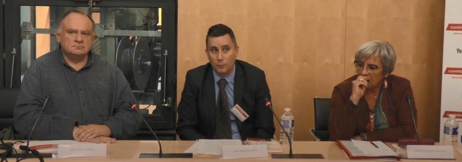 Conférence à l'Assemblée nationale avec Jean-Marc Daniel et la députée Marie-Christine Dalloz