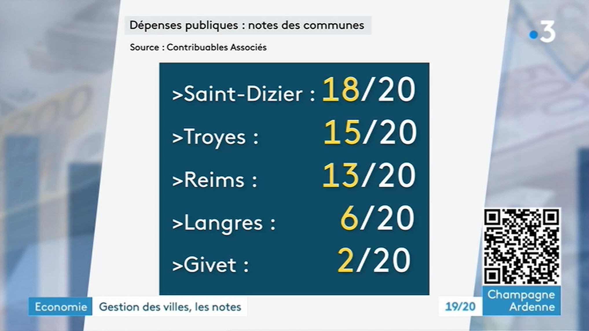Notre Argus des Communes sur France 3 - Champagne Ardennes
