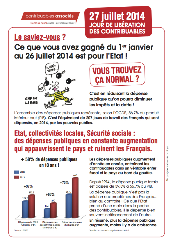 tract Libération Fiscale 2014