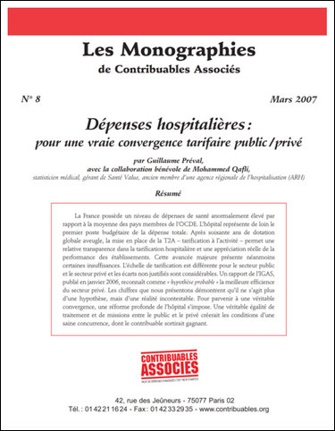 depenses hospitalieres contribuables associes 2007