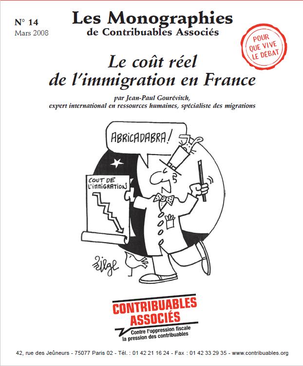 une monographie 14 cout immigration Contribuables Associes