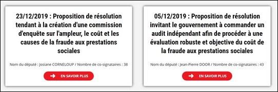 propositions résolution fraudes sociales