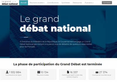 Le coût du Grand débat national
